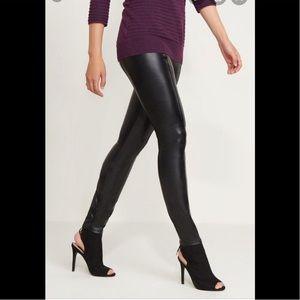Dynamite high rise black faux leather leggings